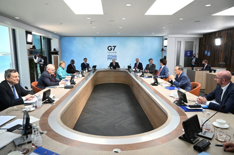 G7、途上国向けインフラ支援構想で合意 「一帯一路」に対抗
