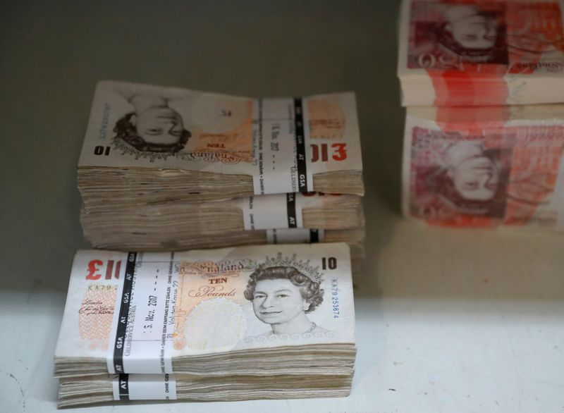 Sterling slips to one-month low versus dollar