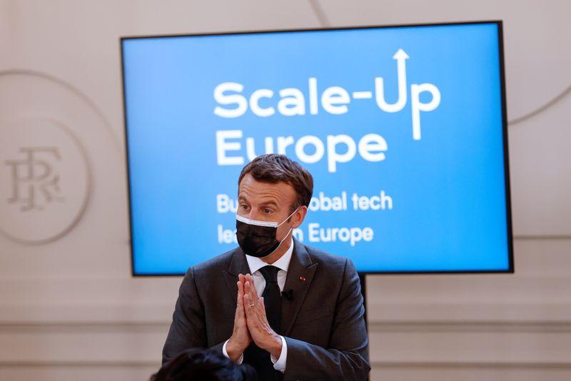 Macron souhaite la création de 10 géants européens de la tech d'ici 2030