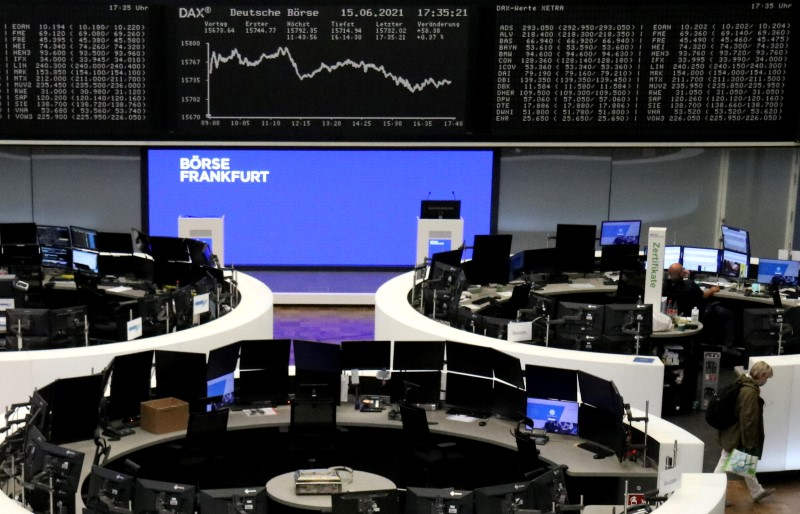 European shares mark record-high close ahead of Fed