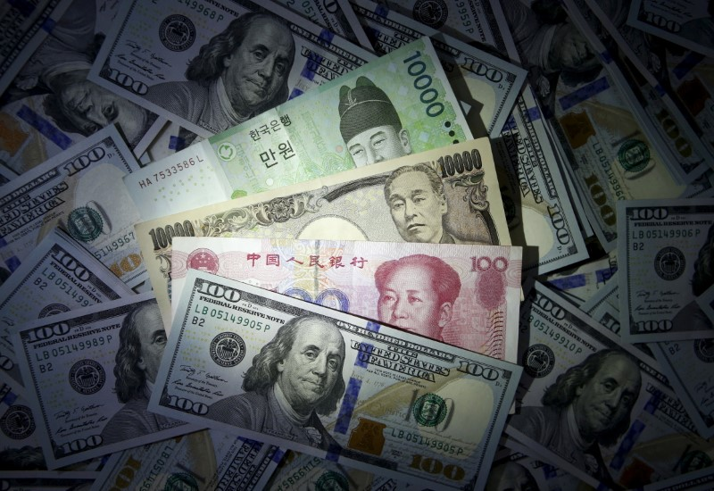 Investors trim long positions on Asian currencies, yuan bets halved