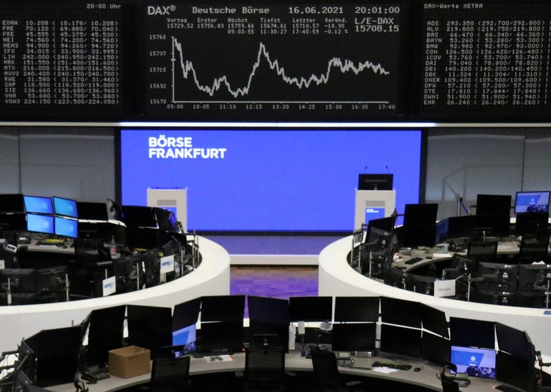 European shares slip from record highs on hawkish Fed