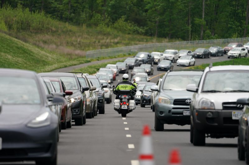 U.S. motor vehicle travel jumped by 55% in April over 2020 levels
