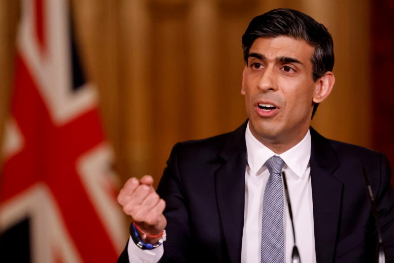 UK's Sunak rules out extra help for firms hit by extended COVID-19 restrictions -FT