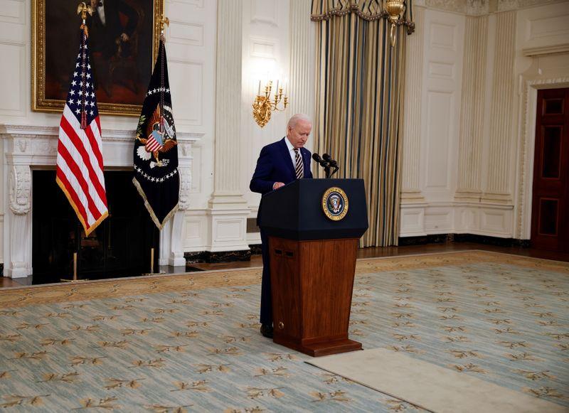 Biden will meet U.S. financial regulators on Monday