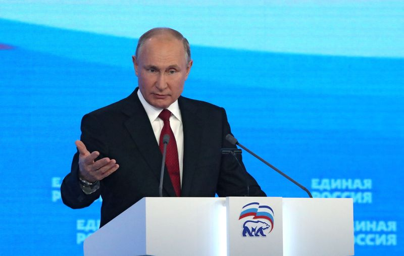 Russia's Putin tries to give ruling party a pre-election boost with spending promises