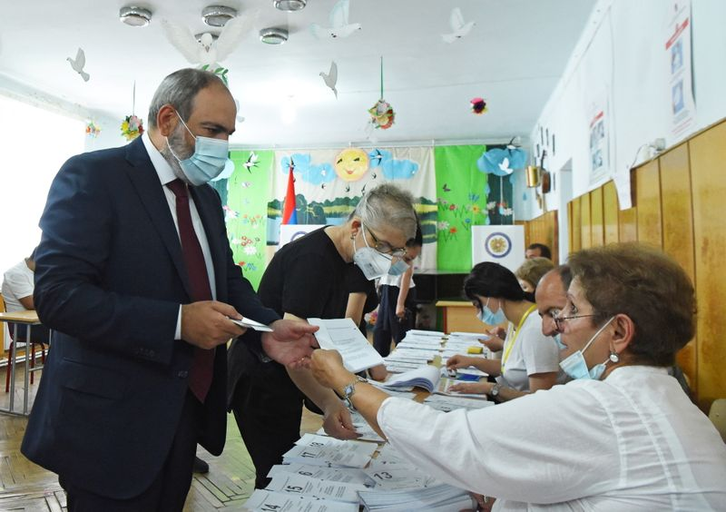 Armenia's acting PM claims victory as party takes early lead in parliamentary election