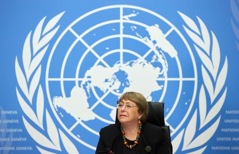 U.N. rights chief seeks Xinjiang visit this year, says HK trials key test