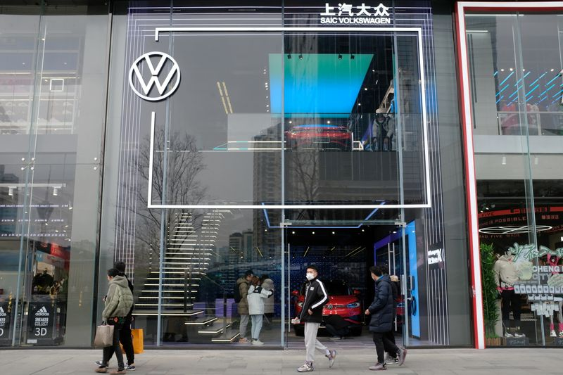 Reality check for Volkswagen in China after sluggish start for electric car series By Reuters