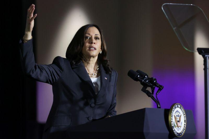 Drop politics to fix immigration, Harris says at U.S.-Mexico border