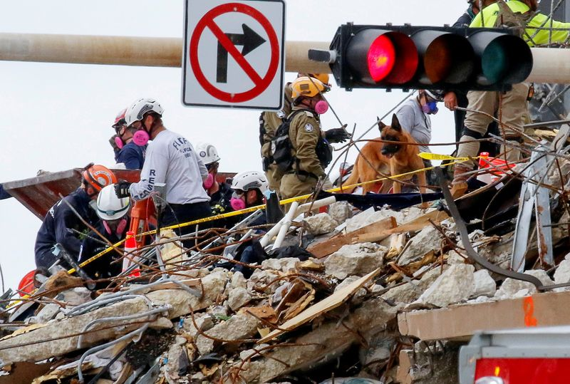 Scores feared dead as rescuers soldier on nearly week after Florida condo collapse
