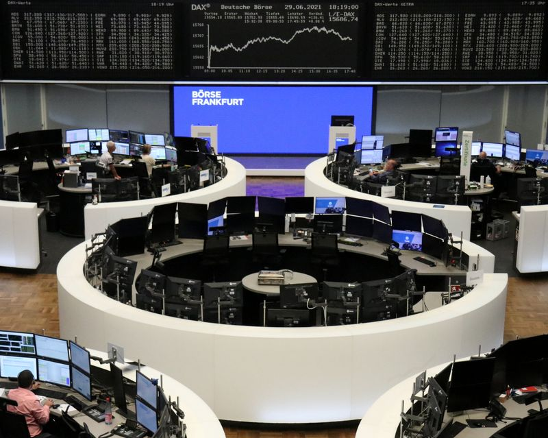 European shares fall on inflation, pandemic woes