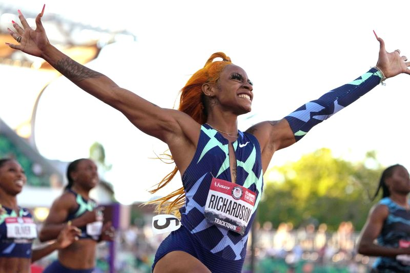 Athletics-U.S. sprinter Richardson tests positive for cannabis, could miss Olympics - sources