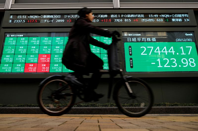 China shares slip after Party's party, others firm ahead of U.S. jobs data