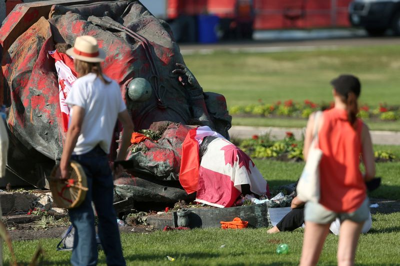 Statues of Queen Victoria, Queen Elizabeth II toppled in Canada