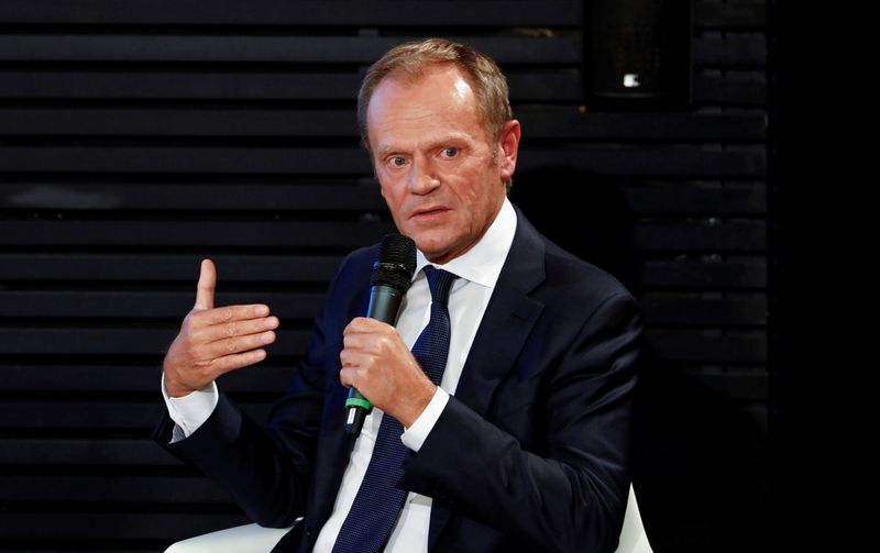 Poland's Tusk returns to frontline, vowing to lead opposition to victory
