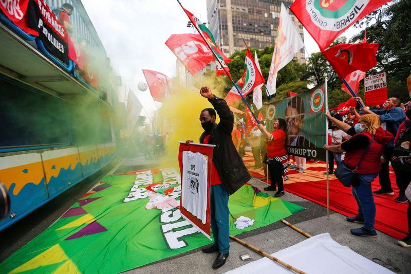 Brazilians demonstrate against Bolsonaro, slow vaccine rollout