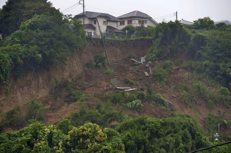 Two feared dead, 20 missing in Japan as torrential rains unleash landslides -NHK