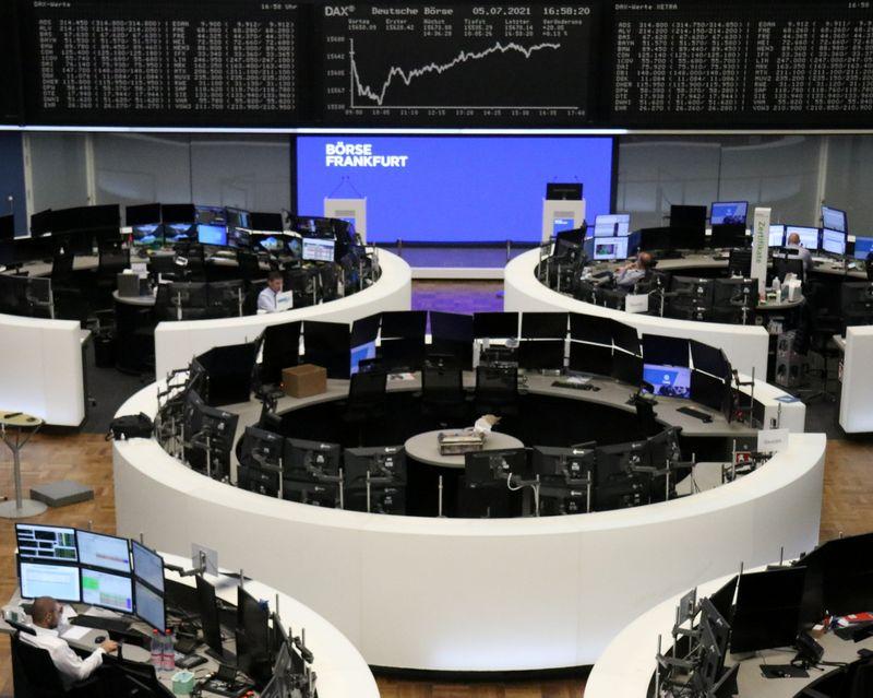 European shares drop as investors turn to bonds amid economic uncertainty