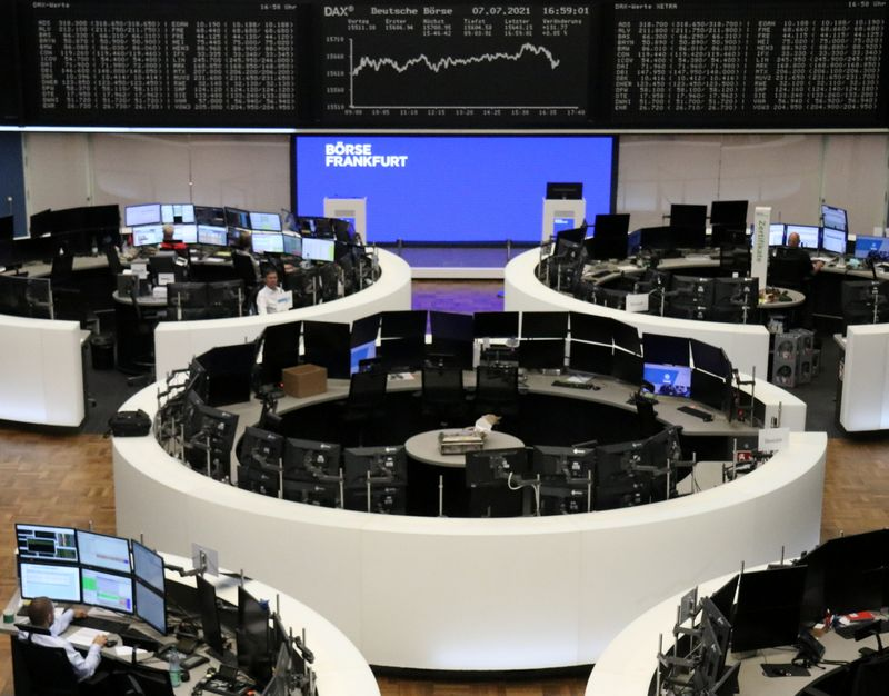 European shares rise as commodity stocks rebound, techs jump