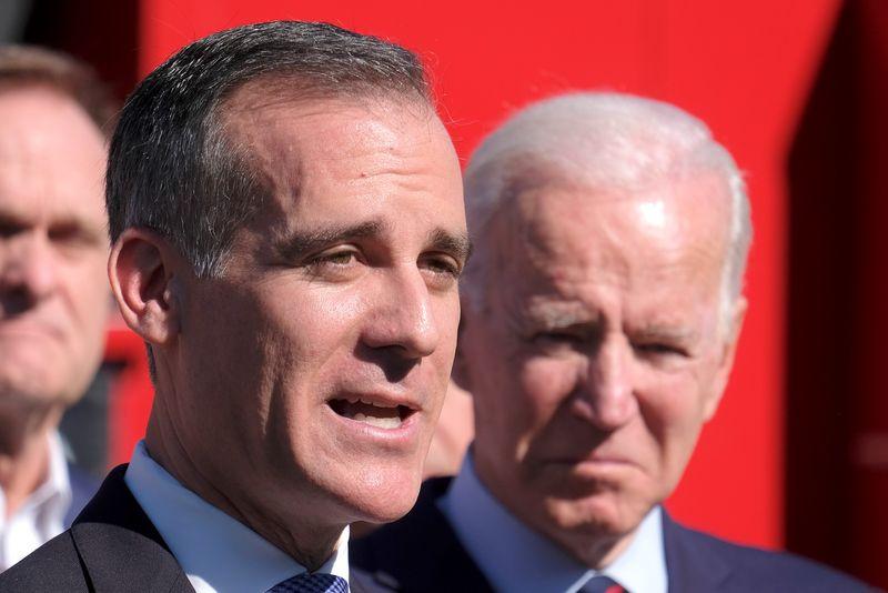 Biden picks Los Angeles Mayor Garcetti to be U.S. ambassador to India