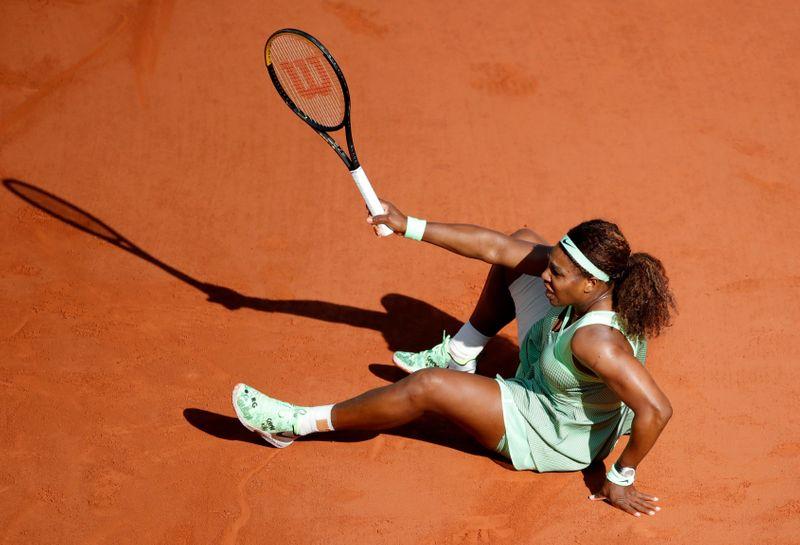Serena Williams prend la porte