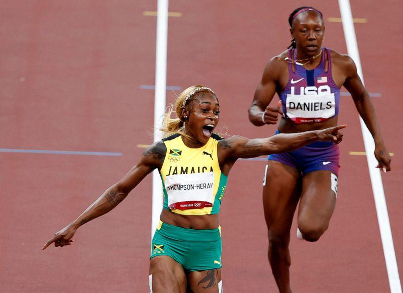 Thompson s'impose sur le 100m